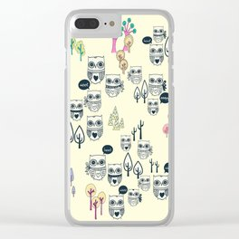 Forest Of Owls Clear iPhone Case