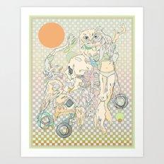 decay, cream & color  Art Print