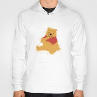 pooh Hoodies featuring Winnie The Pooh by DanielBergerDesign