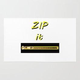 Zip it Black Yellow jGibney The MUSEUM Gifts Rug