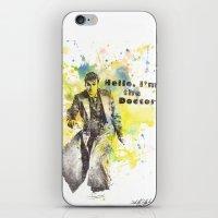 david tennant iPhone & iPod Skins featuring Doctor Who 10th Doctor David Tennant by idillard