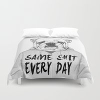 shit Duvet Covers featuring Same shit... by Balazs Solti