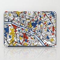 paris map iPad Cases featuring Paris by Mondrian Maps
