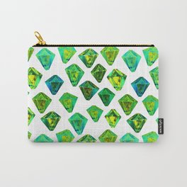 Green gemstone pattern. Carry-All Pouch