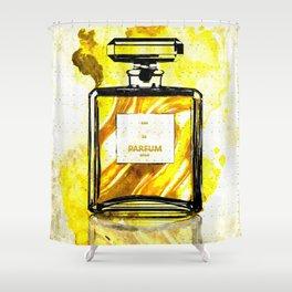 Parfum Gold Shower Curtain
