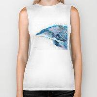 dolphin Biker Tanks featuring Dolphin  by Slaveika Aladjova