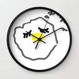 sleepy egg Wall Clock