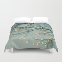 the lights Duvet Covers featuring Lights  by Laura Ruth