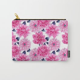 Blush pink hand painted watercolor modern floral pattern Carry-All Pouch