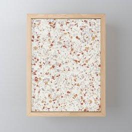 Terrazzo wall Framed Mini Art Print