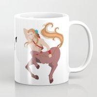 sagittarius Mugs featuring Sagittarius by Rejdzy
