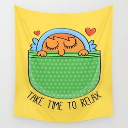 Take Time To Relax Wall Tapestry