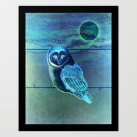 The Owl in the Paint Chip Art Print