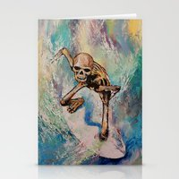 surfer Stationery Cards featuring Surfer by Michael Creese