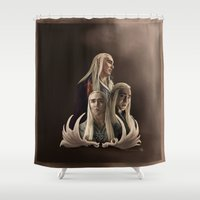 thranduil Shower Curtains featuring Thranduil - the Elvenking by artbymurrl