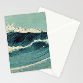 Japan Waves Beautiful sea with Blue Pattern Stationery Cards