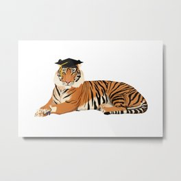 Graduation Tiger Metal Print