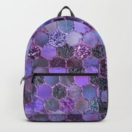 Purple geometric hexagonal elegant & luxury pattern Backpack