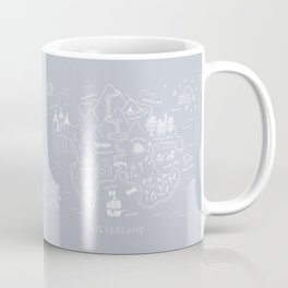 Neverland Map - Gray Coffee Mug