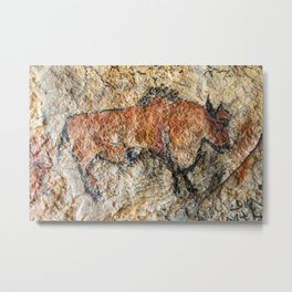 Cave painting in prehistoric style Metal Print