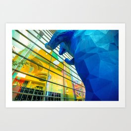 Peeking In - Denver Blue Bear Art Print