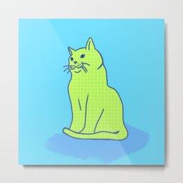 cat squares Metal Print