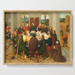 The Last Supper - 15th Century Painting Serving Tray