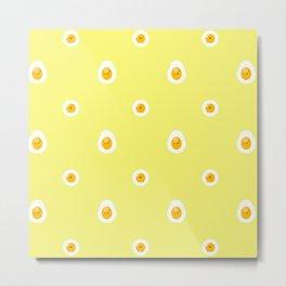 Upset Eggs Metal Print