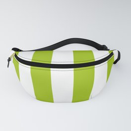 Bright Pistachio Nut Green and White Cabana Stripes Fanny Pack