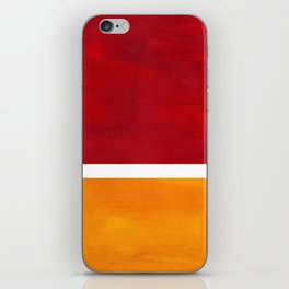 Burnt Red Yellow Ochre Mid Century Modern Abstract Minimalist Rothko Color Field Squares iPhone Skin