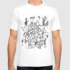 Realm MEDIUM Mens Fitted Tee White