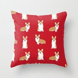 Corgis - Cute corgi, dog pet, corgi decor, corgi pillow, corgi bedding, corgi pattern, cute corgi de Throw Pillow