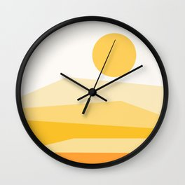Abstract Landscape 09 Yellow Wall Clock