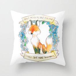 How To Be A Decent Person - Fox Throw Pillow
