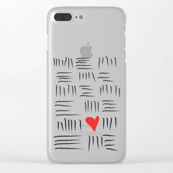 L O V E Clear iPhone Case