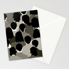 The Monotone Crowd Stationery Cards