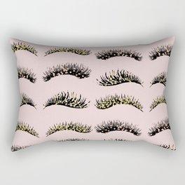 Blush pink - glam lash design Rectangular Pillow