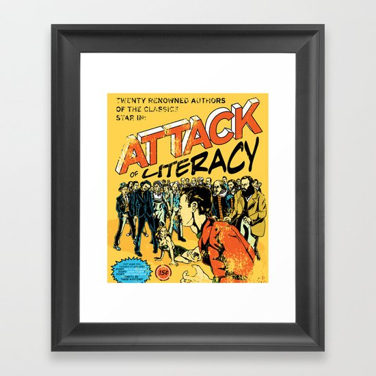 Attack of Literacy Framed Art Print