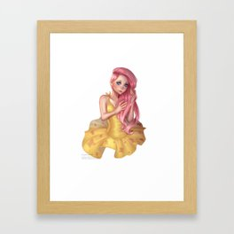 Human Fluttershy Framed Art Print