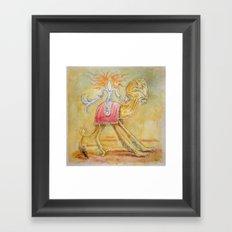 Atop my Desert Steed Framed Art Print