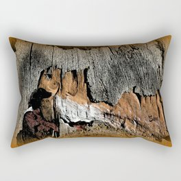 The Little Old Hunter -series with the cave images Rectangular Pillow