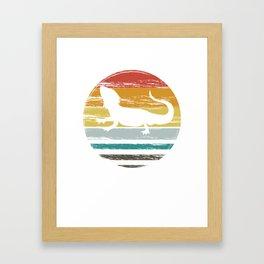 Funny Bearded Dragon Shirt Framed Art Print