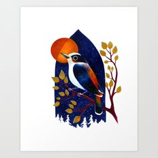 Window Bird Art Print