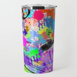 Psychodelic Hipppie Abstract Painting Travel Mug