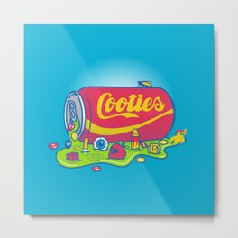 The World has Cooties Metal Print