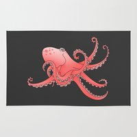 octopus Area & Throw Rugs featuring Octopus by mailboxdisco