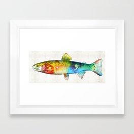 Rainbow Trout Art by Sharon Cummings Framed Art Print
