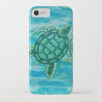 sea turtle iPhone & iPod Cases featuring turtle by Brittany Rae