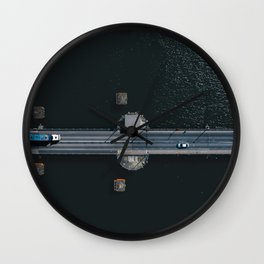 Aerial view of Tom Clarke Bridge commonly known as the East-Link Toll Bridge Wall Clock