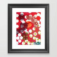Polka-Dot Framed Art Print